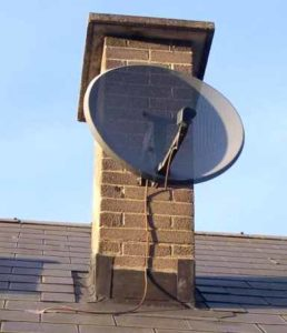 Satellite Dish Chimney Installs